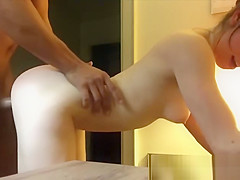 Teen Fucks Big Dick In Motel Room Voyeur