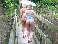 UK Amateur Beauties on the bridges of New Mills