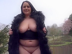 Busty Amateur MILF Sarah Janes Flashing and Public