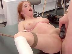 Art students banging busty redhead