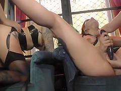 Sluts banged in Spanish public orgy