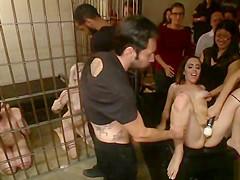 Four sluts orgy public fucking