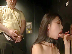 Asian spinner fucked in publicly theater
