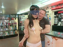 Asian spinner anal gang banged in public
