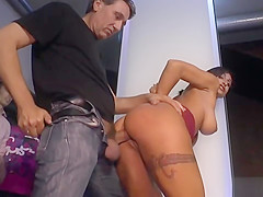 Tied up gagged slaves humiliated in public