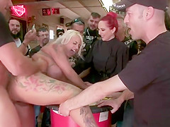 Huge tits alt slut dp banged in public