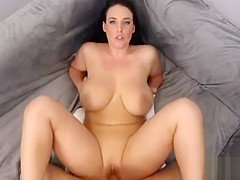 PervsOnPatrol With Angela White - Sexy Woman With Massive Natural Boobies