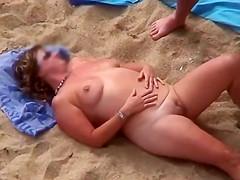 Mature Beach Play