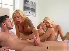 Huge titted mature stepmom hot threesome