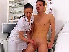 Stud Is Naked At The Doctors And Lets The Nurse Stroke Him