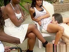 Ebony Girls love White Slaves