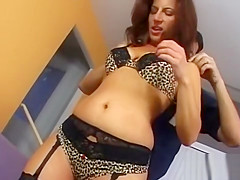 Hot Mamma Leopard Upskirt