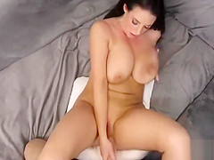 Cumshot On Angela White - Sexy Woman With Massive Natural Boobies