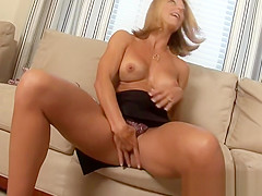 Horny mature is mad about cock