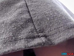 Enticing outdoor upskirt movie scene video