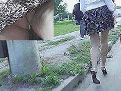String panty up brute-print mini petticoat