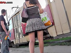 The almost all spectacular outdoor upskirt