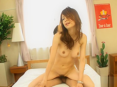 Hot Asian in upskirt charms with reverse anal riding