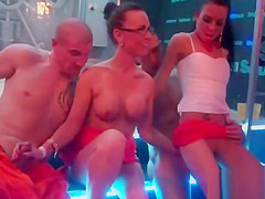 Lovable models blow cock and enjoy plowing and groupsex