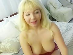 Blonde stepsister Velvet Rain fucked in POV by a big cock