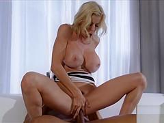 Big tit MILF teacher rides a big black dick