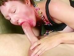 Cute older lady Darling Dana sucks a dick very nice