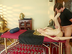 Gorgeous blonde in voyeur fuck session