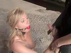 Long haired blonde fucked in public bus