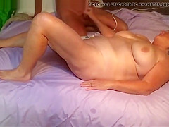a husband play with wife on bed and cum on her 114l