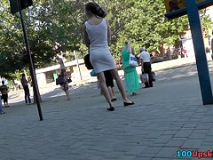Random upskirt chick in the street