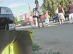 Peek up lime-colored skater petticoat
