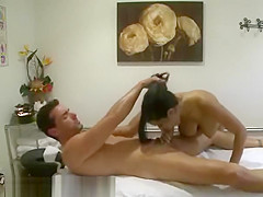 A Lovely Asian Massage Therapist Doing Special Service