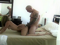 Brunette Fucked And Caught On Hidden Camera In Motel Room