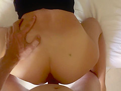 (voyeur POV) I noticed tourist watching me, invited stranger for doggy sex
