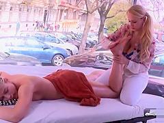 Skinny Sweet Cat Angel Wicky lesbian toyplay massage