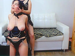 I changed cloth for my lesbian slave and handcuff fetish
