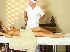 Busty milf pussyfucked by her masseur