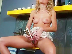 (summer) Horny Alone Girl Like To Masturbate With Dildos clip-19
