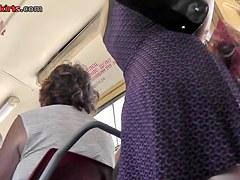 Palatable upskirt butt filmed with close-up