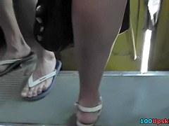 Fabulous hot panty upskirt clip