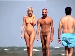 blond in nudist beach