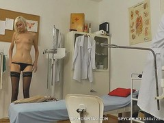 Gyno hospital hidden web camera videotapes a stripped gal