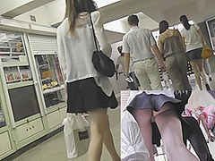 Very gripping schoolgirl upskirt episode