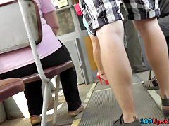 Real bombshell in a spy upskirt episode