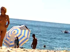 Spy footage  from nudist beach
