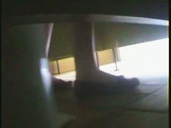 Voyeur makes sexy hidden school girl pissing spy cam video
