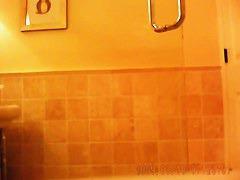 Fit teen in green bikini caught on hidden shower spy cam