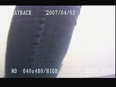 Amateur mature blonde hidden piss cam