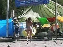 Gorgeous amateur nudists on hidden beach cam