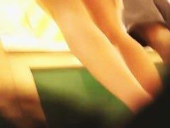 Tight amateur brunette upskirt voyeur video